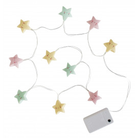 String lights: pastel sterren