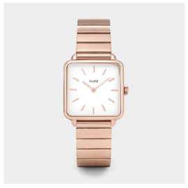 Cluse La Tétragone Single Link Rose Gold/White