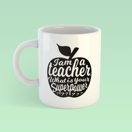 Koffiemok I am a teacher