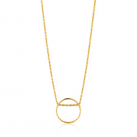 Ania Haie Twist chain circle necklace