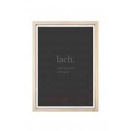 Houten fotolijst met poster Lach A3 Zusss