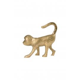 Kaarsenhouder aap metaal/goud Zusss