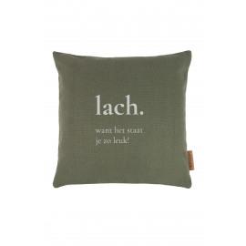 Kussen Lach/groen Zusss