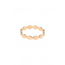 Ring Zusss met schulprandje / goud
