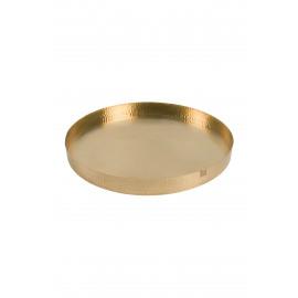 Metalen gouden schaal - 50 cm