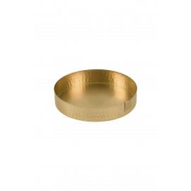 Metalen gouden schaal - 15 cm - Zusss