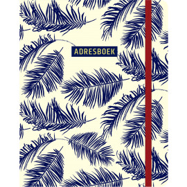Adresboek Botanical blue / Paperstore