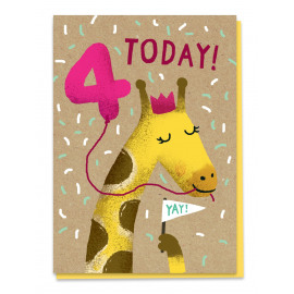 Fourth birthday - giraffe