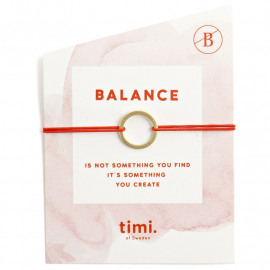 Armbandje Timi Circle Stretch goud/rood