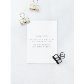 Postkaart meester / Gewoon Jip
