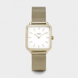 Cluse La Tétragone gold mesh/white