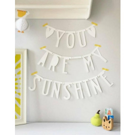 DIY Letterbanner - Wit