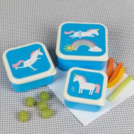 Set/3 snackdoosjes Magical unicorn