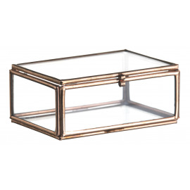 Mini glazen box copper