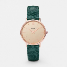 Minuit Rose Gold Champagne/Emerald Lizard