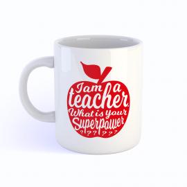 Mok I am a teacher / rood