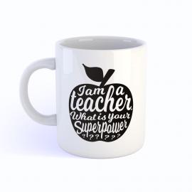 Mok I am a teacher / zwart
