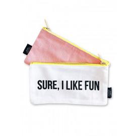 Canvas bag 'sure I like fun'