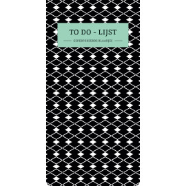 To do-lijst Black & White / Paperstore