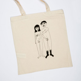 Totebag Naked Couple