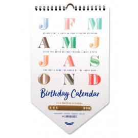 Happy Birthday kalender / Uitgeverij Stratier