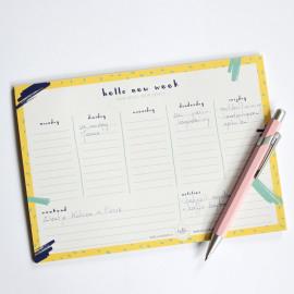 Weekplanner Hello new week