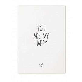Postkaart You are my happy