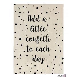 Houten kaart Add a little confetti to each day