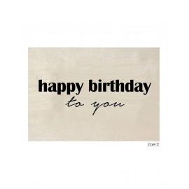 Houten kaart Happy birthday to you