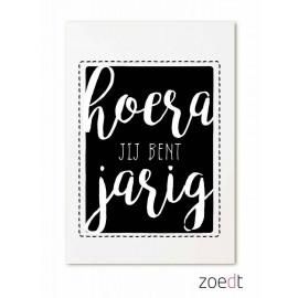 Postkaart Hoera, je bent jarig