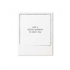 Postkaart retroprint Add a little confetti to each day / Zoedt