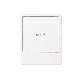 Postkaart retroprint Geniet / Zoedt