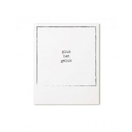 Postkaart retroprint Pluk het geluk / Zoedt