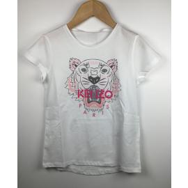 Kenzo-T-Shirt Print (TIJGER ROZE)
