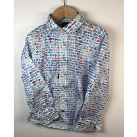 Hackett-Hemd (lange mouw) Print (VISJES)