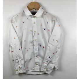 Hackett-Hemd (lange mouw) Print (SURFERS)