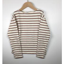 ByBar-Sweater Gestreept (STREEP BRIQUE)