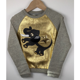 F2/CRAZY/SWEATER GOUD OLIFANT