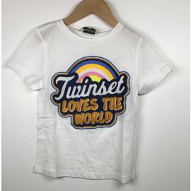 TwinSet-T-Shirt Print (REGENBOOG)