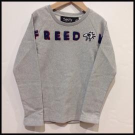 F2/SVNTY/T.SHIRT GRIJS FREEDOM
