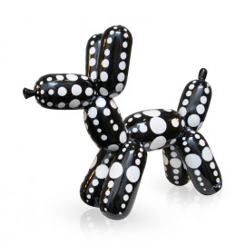 Balloon Dog Black/White Dots