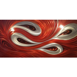 Blood Red Swirl ingelijst