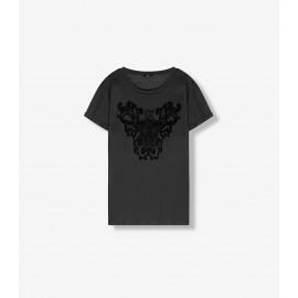 knitted boxy t-shirt black