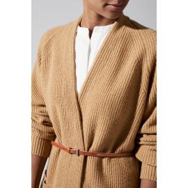 D03 1035 202 rib stitch loose cardigan