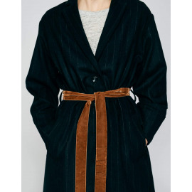 laeken coat off black