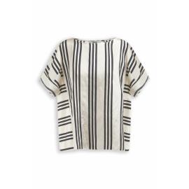 zenggi silky stripe eva top E04 1022 332 160 black