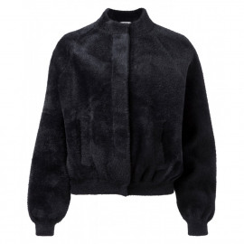 faux bomber jacket with invisible fastening