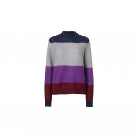 solo knit stripe fuchsia stripe