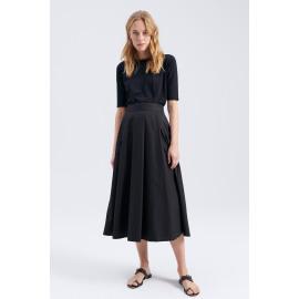 zenggi cotton poplin mayfair skirt E07 1003 330 160 black