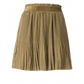 midi plisse skirt with velvet waistband